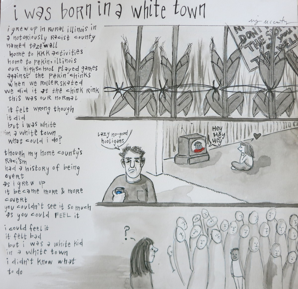 i was born in a white town (pageone)