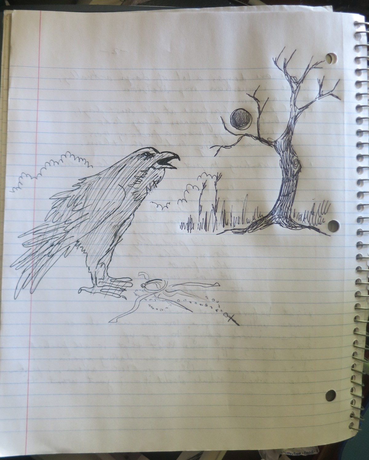 INKtober day eight–crow doodle