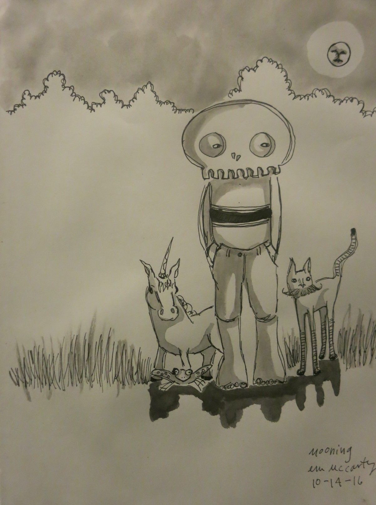 INKtober day fourteen–can i phone this onein?